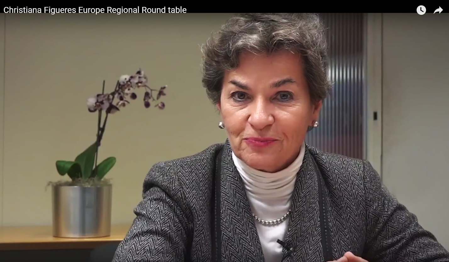 Christiana Figueres challenges UNEP FI's banking members and wider industry to cut high-carbon investing