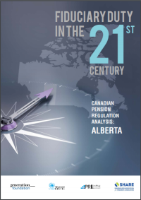 Fiduciary Duty in the 21st Century – Canadian Pension Regulation Analysis: Alberta