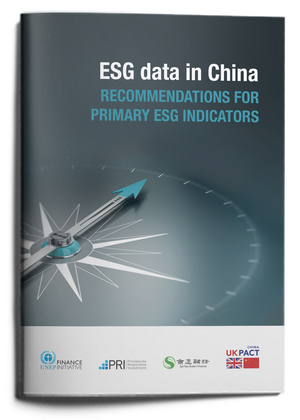 ESG data in China: recommendations for primary ESG indicators