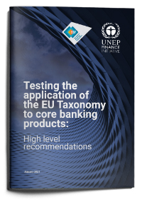 Testing the application of the EU Taxonomy to core banking products: High level recommendations