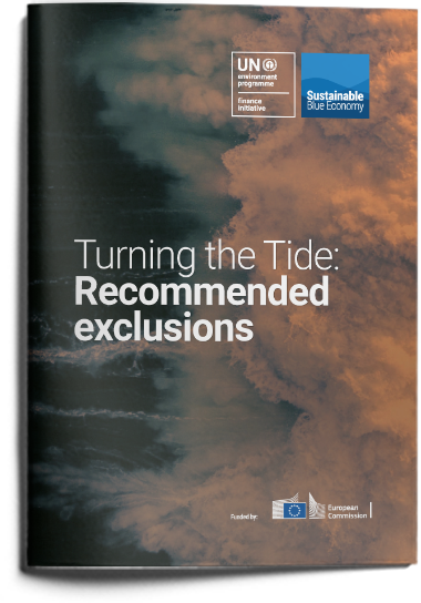 Financing a sustainable blue economy: recommended exclusions list