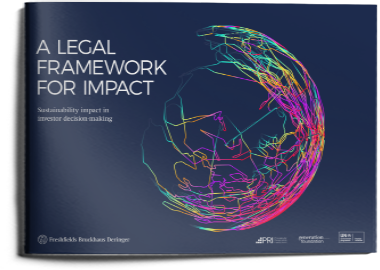 A Legal Framework for Impact: sustainability impact in investor decision-making